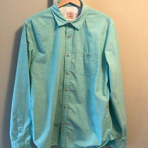 Brooks Brothers Red Fleece aqua cotton shirt